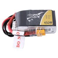 Tattu 11.1V 75C 3S 450mAh Lipo Battery Pack with XT30 Plug