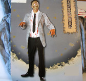 Businessman Zombie Adult Costume Mask 40-42 NWT