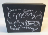 Merry Christmas Chalk Wood Sign Holiday Home Decor 8.5' NeW