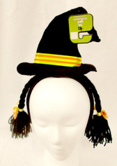 Black Witch Hat Braids Halloween Party Headband NWT