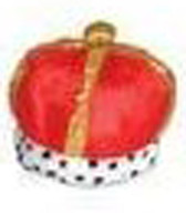 King Crown Hat Royal Red Party Dress-up Costume (Red) Child