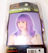 Purple 60's Flip Wig Pageboy Adult One Size Fits Most 3+ NIP
