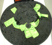 Witch Hat Black Green Ribbon Bow Costume Dress-up NWT
