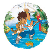 "Go Diego Go Mylar Balloon Birthday Party 18"" NIP"