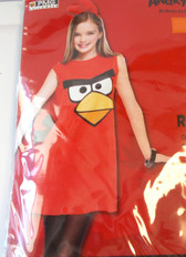 Angry Birds Red Bird Child Costume 7-8 NWT