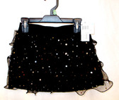 Black Stardot Ruffled Skort Child Costume XS 4-5 NWT