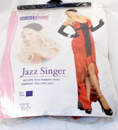 Secret Wishes Jazz Singer Red Dress Costume Womans XS 0-2 NIP