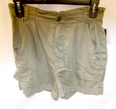 Guess Grunge Green Womens Shorts Gathered Waist 25 NWT