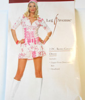 Retro Groove Dress Adult Collar Sleeves Costume XS NIP