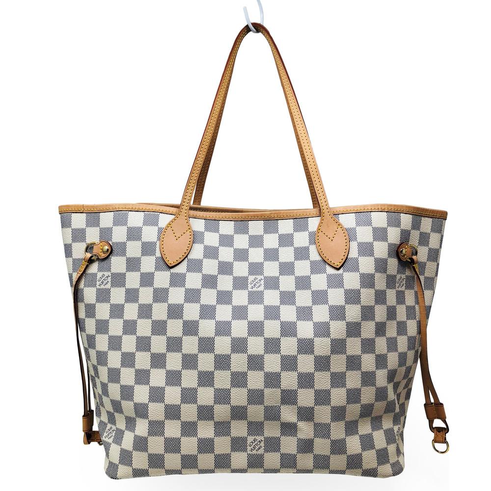 5c6360befdc Home · Handbags and Purses; Louis Vuitton Damier Azur Neverfull MM. Image 1