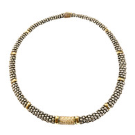 Caviar Silver and Gold Necklace