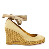 Louboutin Canvas Wedge