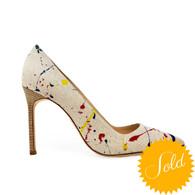Manolo Blahnik BBMal Splatter Heels