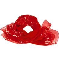 Prada Red Floral Scarf