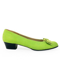 Ferragamo Green Heels