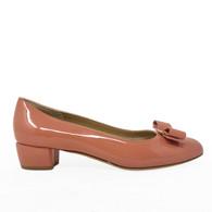 Ferragamo Pink Patent Heels