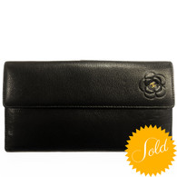 Chanel Black Camellia Wallet