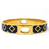 DVF Blue and Gold Bangle