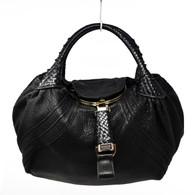 """Fendi Black """"Spy Bag"""" Handbag"""
