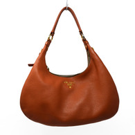 Prada Orange Hobo Purse