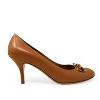 Ferragamo Tan Leather Heels