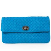 Bottega Veneta Turquoise Clutch