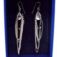 Swarovski Crystal Chain Earrings
