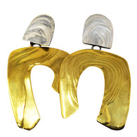 Gold and Silver Artisan Earrings