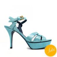 YSL Turquoise Tribute 75 Heels