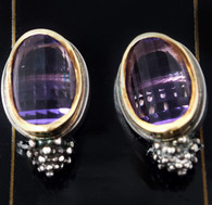 Michael Dawkins Amethyst Earrings