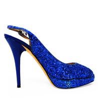 Jimmy Choo Blue Glitter Heels