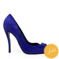 Versace Blue Suede Heels