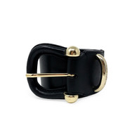 Burberry Black Leather Belt