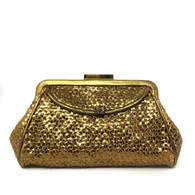 Anya Hindmarch Gold Clutch