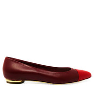Chanel Red Cap-Toe Flats
