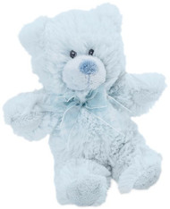 Blue Plush Teddy with Rattle