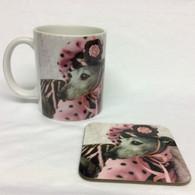 Girly Greyhound Mug and Coaster Set