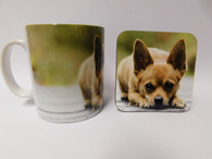 Chihuahua Brown Smooth Hair Mug and Coaster Set