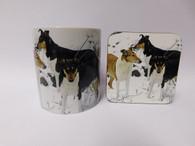 Smooth Hair Collie Dog Mug and Coaster Set