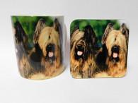 Briard Dog Mug and Coaster Set