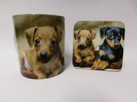 German Pinscher Dog Mug and Coaster Set