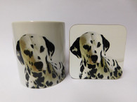 Dalmation Dog Mug and Coaster Set