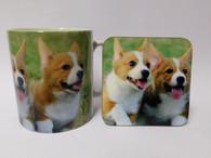 Corgi Dog Mug and Coaster Set