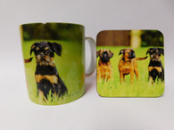 Brussels Griffon Dog Mug and Coaster Set