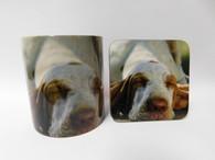 Bracco Italiano Dog Mug and Coaster Set