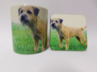 Border Terrier Dog Mug and Coaster Set