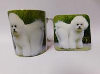 Bichon Frise Dog Mug and Coaster Set