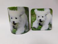 Bichon Frise Puppy Dog Mug and Coaster Set