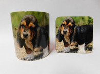 Basset Hound Puppy Dog Mug and Coaster Set