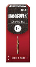 Rico Plasticover Soprano Sax Reeds, Strength 1.5, 5-pack
